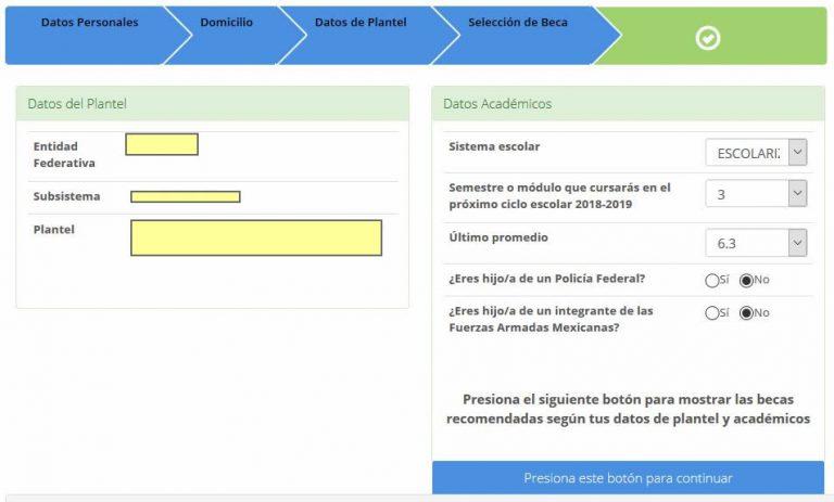 completar perfil becas encuesta bms
